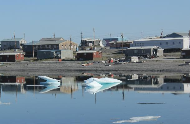 A view of Ulukhaktok from the water.